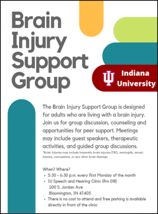 Bloomington Brain Injury Support Group @ IU Speech and Hearing Department